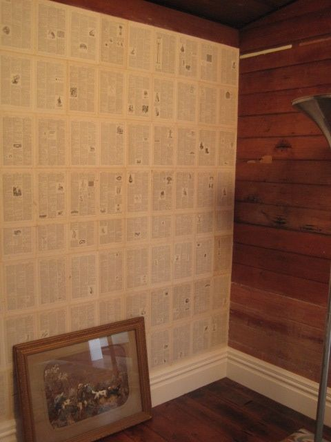 How To Wallpaper With Old Book Pages Decor Extremus