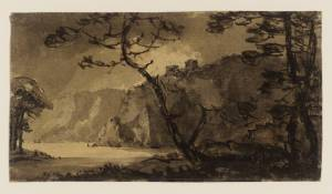 Rev. William Gilpin, Landscape, Cliffs and Trees. Tate Gallery London